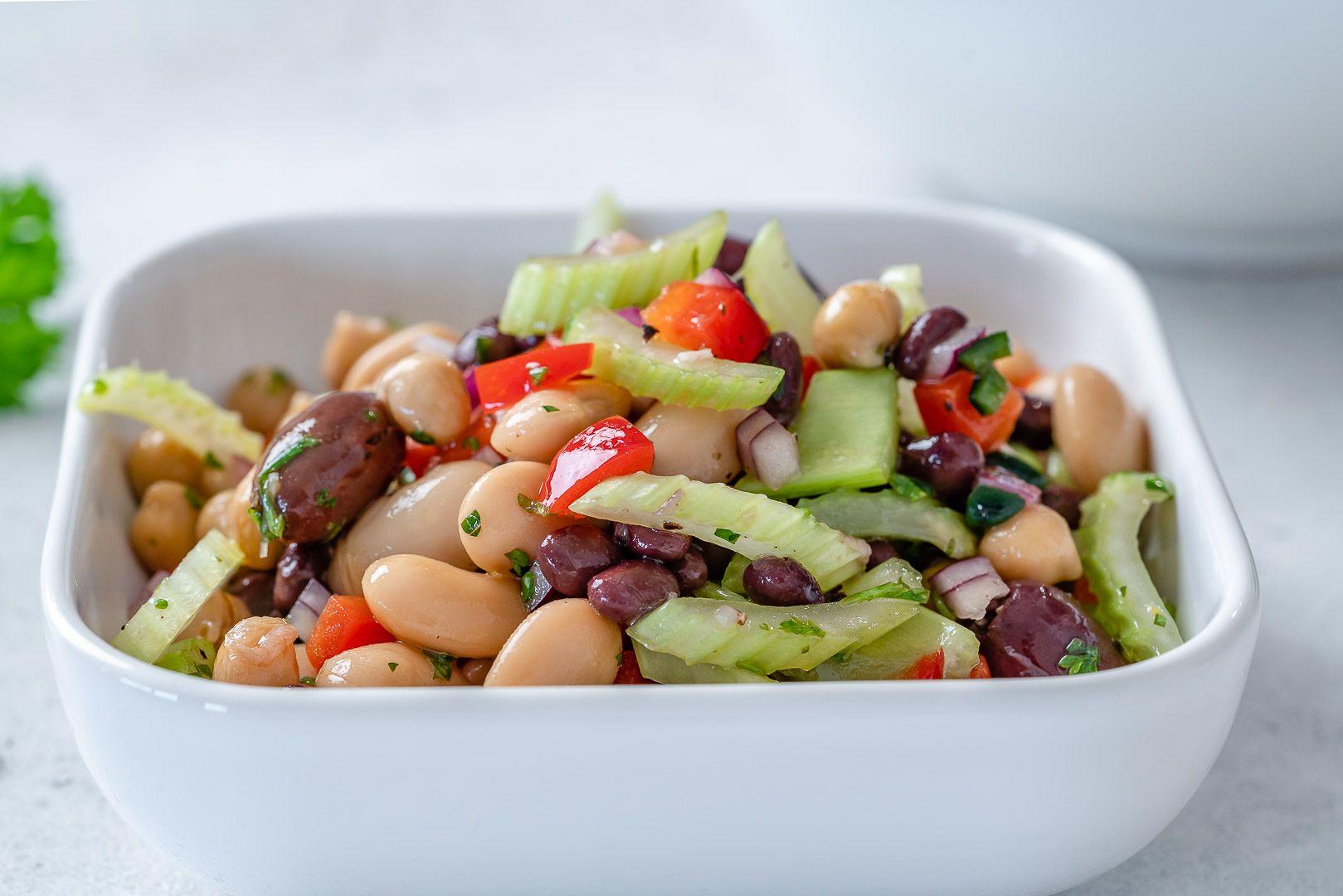 Marinated 3 Bean Salad Recipe In 2020 Clean Food Crush Bean Salad 3 Bean Salad