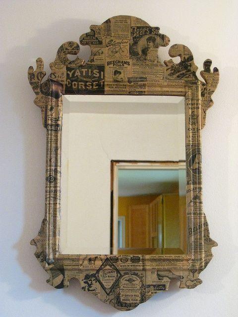 Bildergebnis Fur Paper Mache Furniture Diy Spegel Diy Spegel