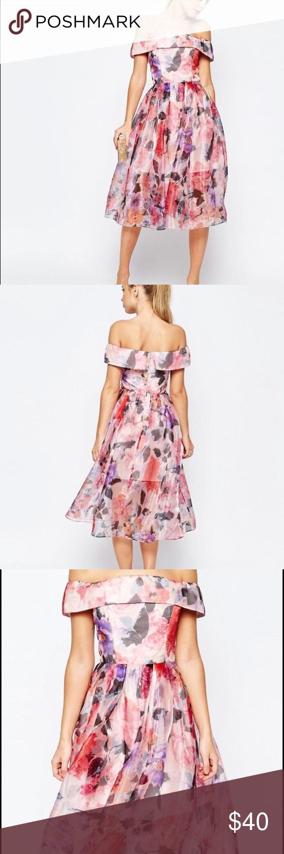NWOT Asos salon floral midi prom dress NWT