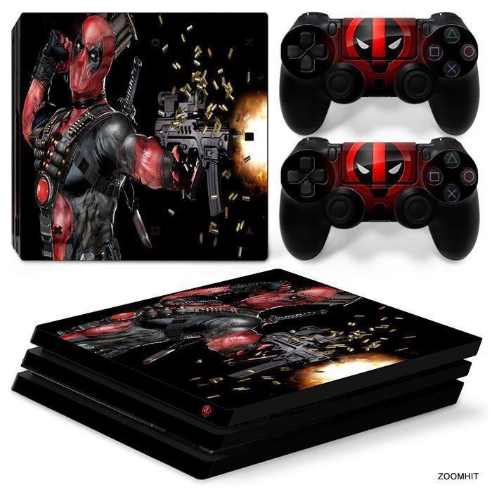 PS4 Pro Playstation 4 Console Skin Decal Sticker DeadPool Custom ...