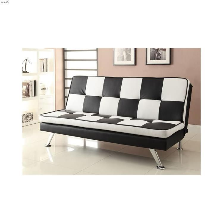 Checkered Sofa Bed 300225 By Coaster