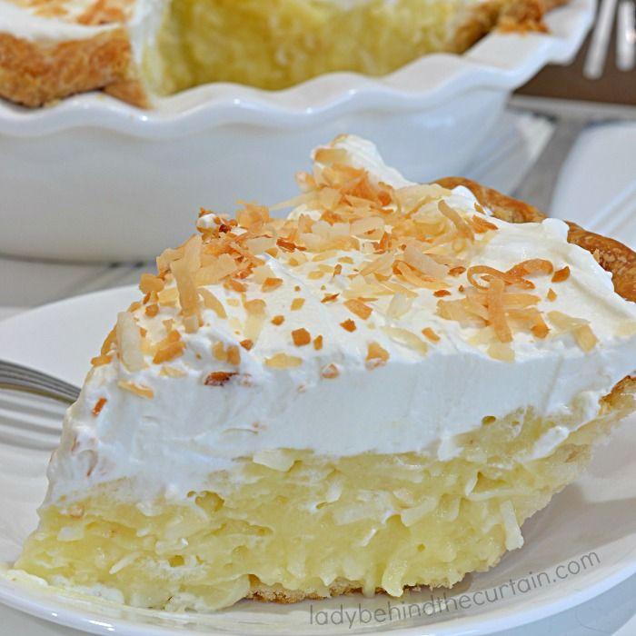 Grandma's Coconut Cream Pie #sugarcreampie