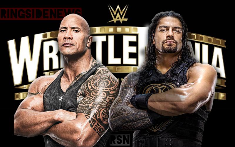 Roman Reigns Wants To Face The Rock At Wwe Wrestlemania 37 Https Www Ringsidenews Com 2020 02 11 Roman Reigns Wants To Face Th Roman Reigns Wrestlemania Wwe