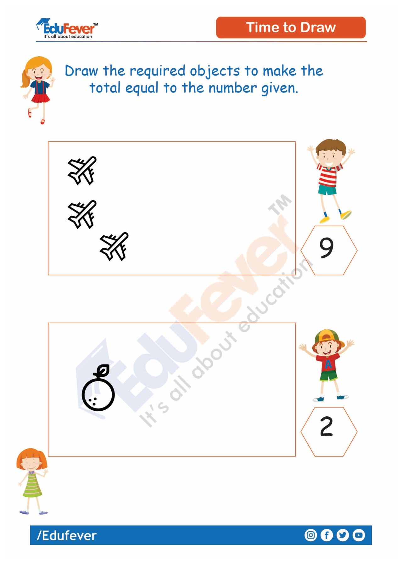 Draw The Objects Equal To The Number In