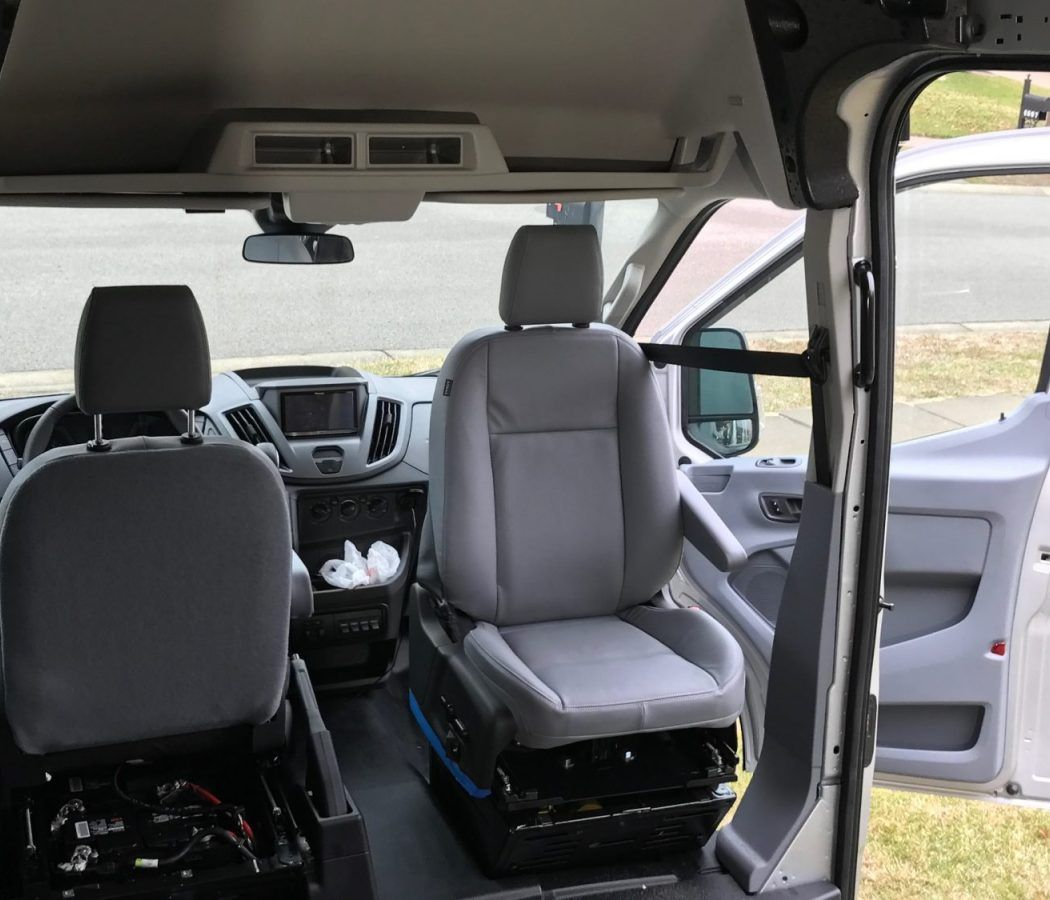 Van Conversion Install Seat Swivel In Ford Transit With Images Ford Transit Camper Van Conversion Diy Ford
