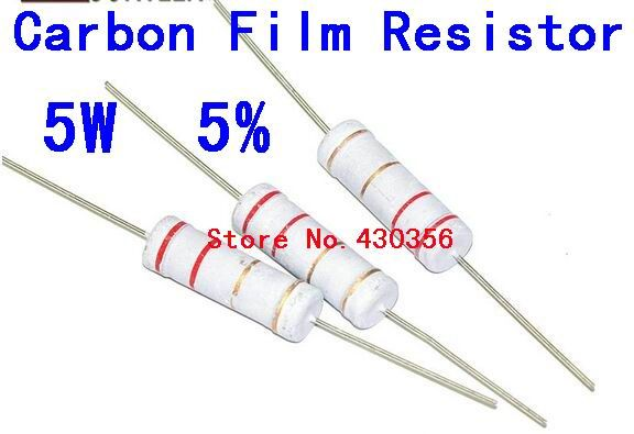 10pcs 5w Carbon Film Resistor 5w 5 220 Ohm 220r Free Shipping Affiliate Resistors Carbon Ohms
