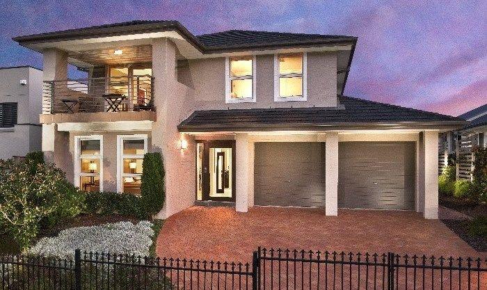 Masterton home designs fernleigh executive rhs facade for Masterton home designs