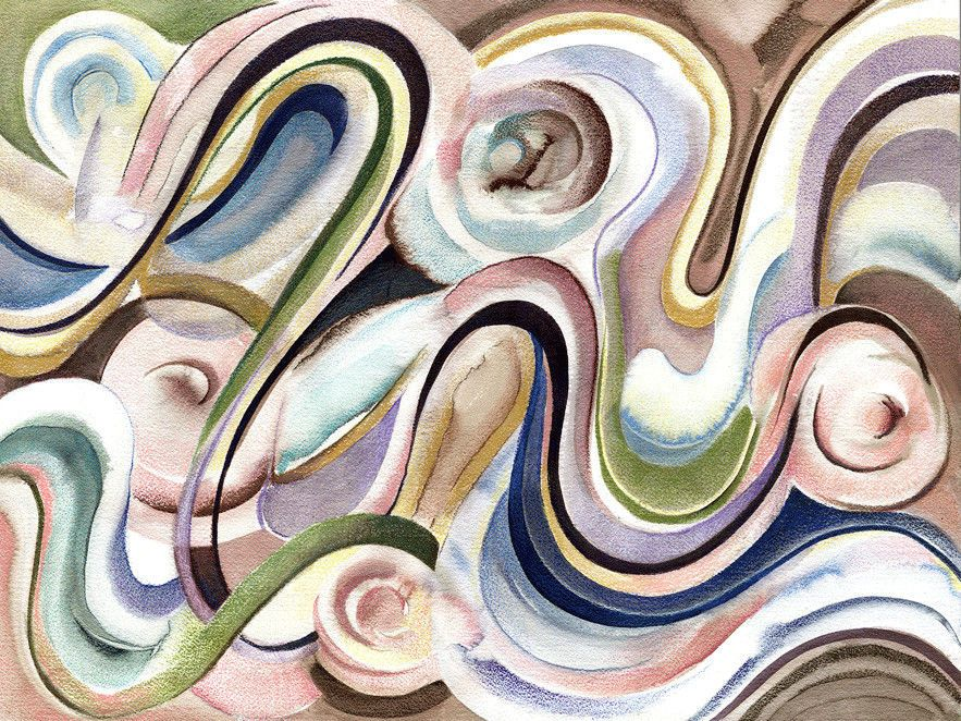 """Fine Art 12x16"""" Abstract Watercolor Print of """"A-Maze-Ing"""" by Cynthia Wise   #Abstract"""