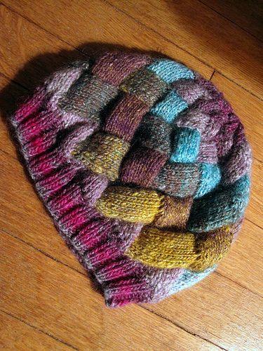 45c155aefd7 Entrelac Knit Hat Side  2