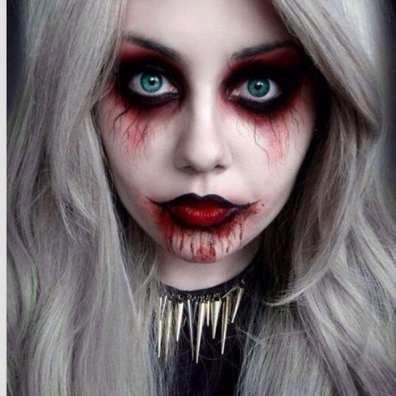 Wie diese Halloween Schminke schminken?