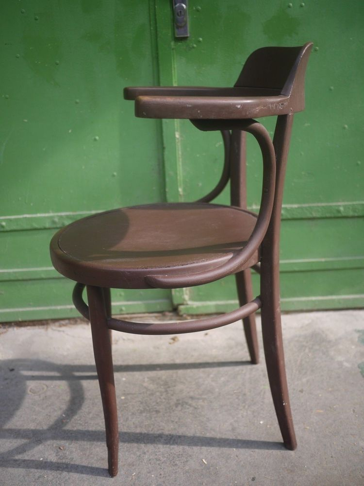 VINTAGE BENTWOOD ARM CHAIR WITH GORGEOUS PRESSED PATTERN SEAT