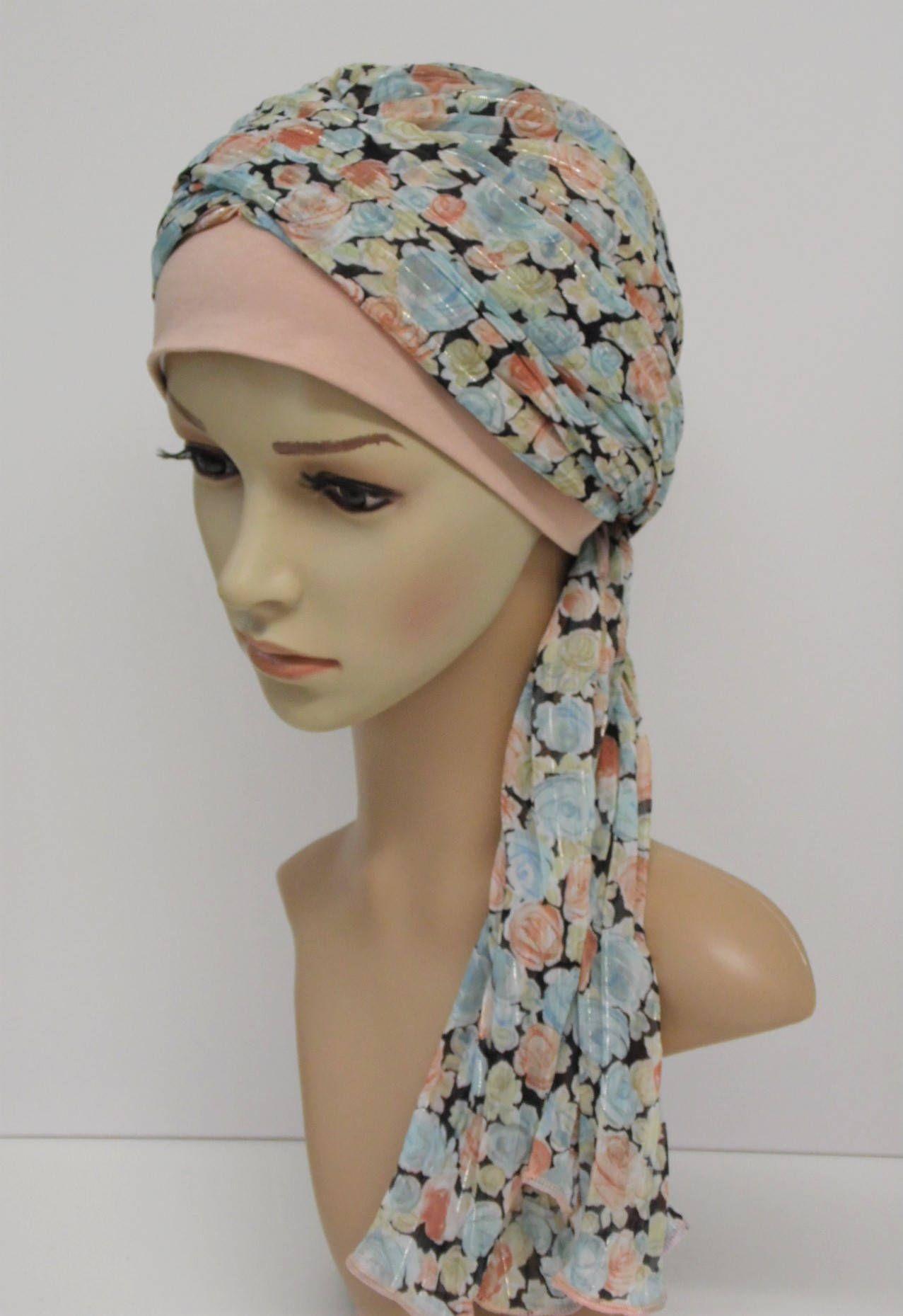 Women head snood head scarf tichel headscarf bonnet with ties hair snood