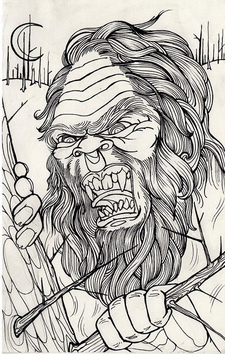 Sasquatch Bigfoot Cryptid Cryptozoology Horror By Resonanteyes