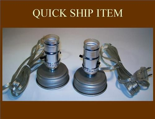 Mason Jar Lamp Kit Adapter Set