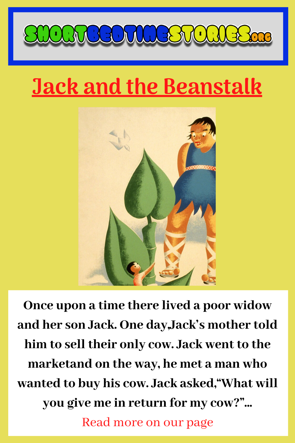 Jack And The Beanstalk Bedtime Story In 2020 Fairy Tales For Kids Stories For Kids Reading Strategies Kindergarten