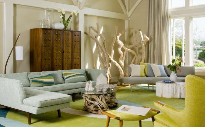 Wohnzimmer Kissen ~ Ecksofa montego sofa mit ottomane dunkelgrau kissen grün