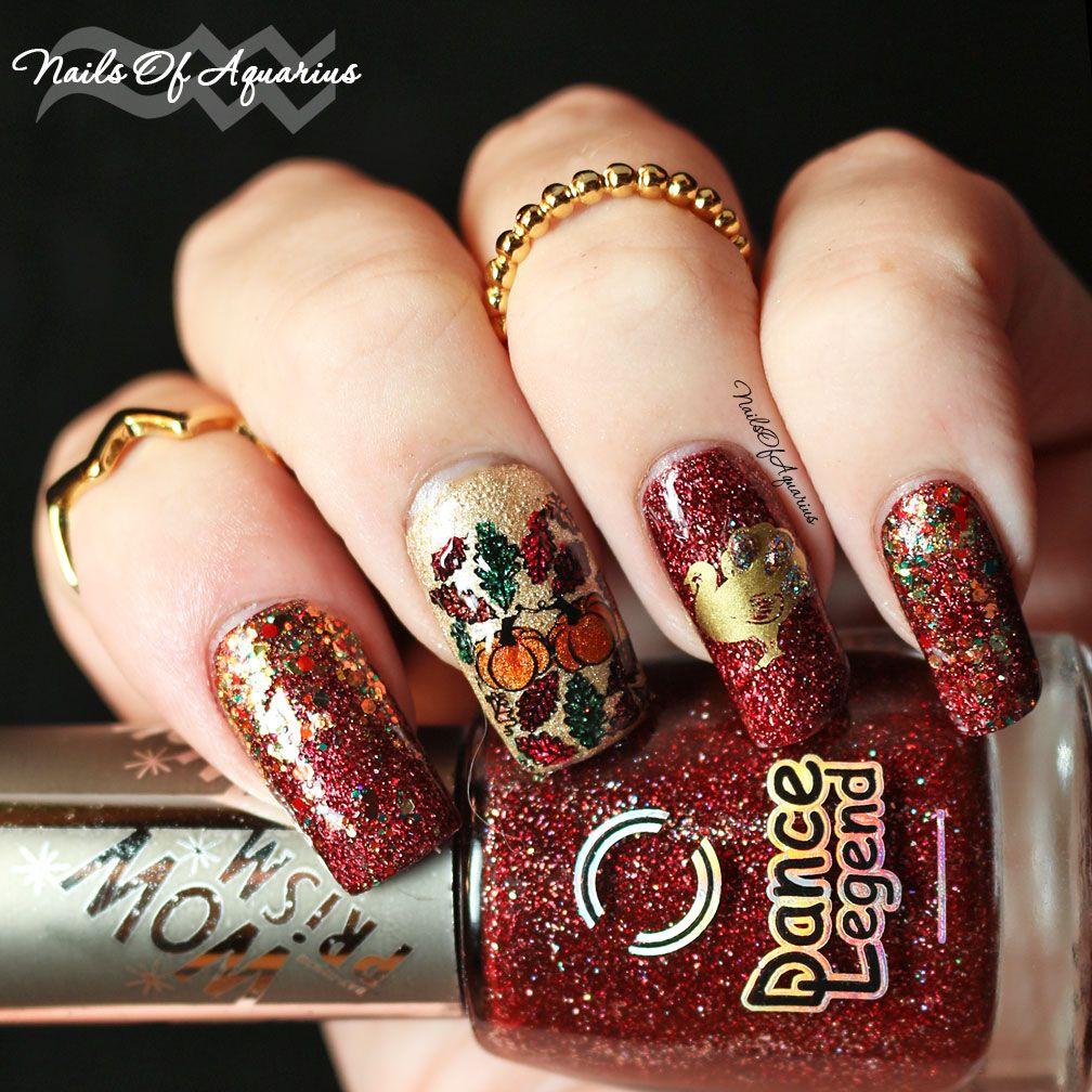 The Golden Ummm Turkey Thanksgiving Nail Art Design Thanksgiving