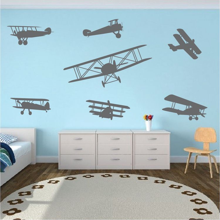 Airplane wall decals kids bedroom decor removable sticker trendy designs also stickers and rh pinterest