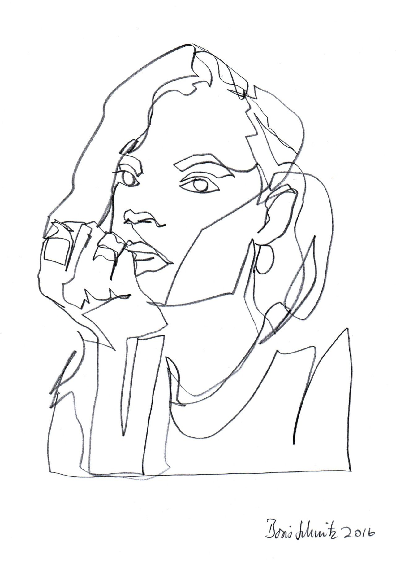 Simple Continuous Line Art : Continuous line drawing by boris schmitz week