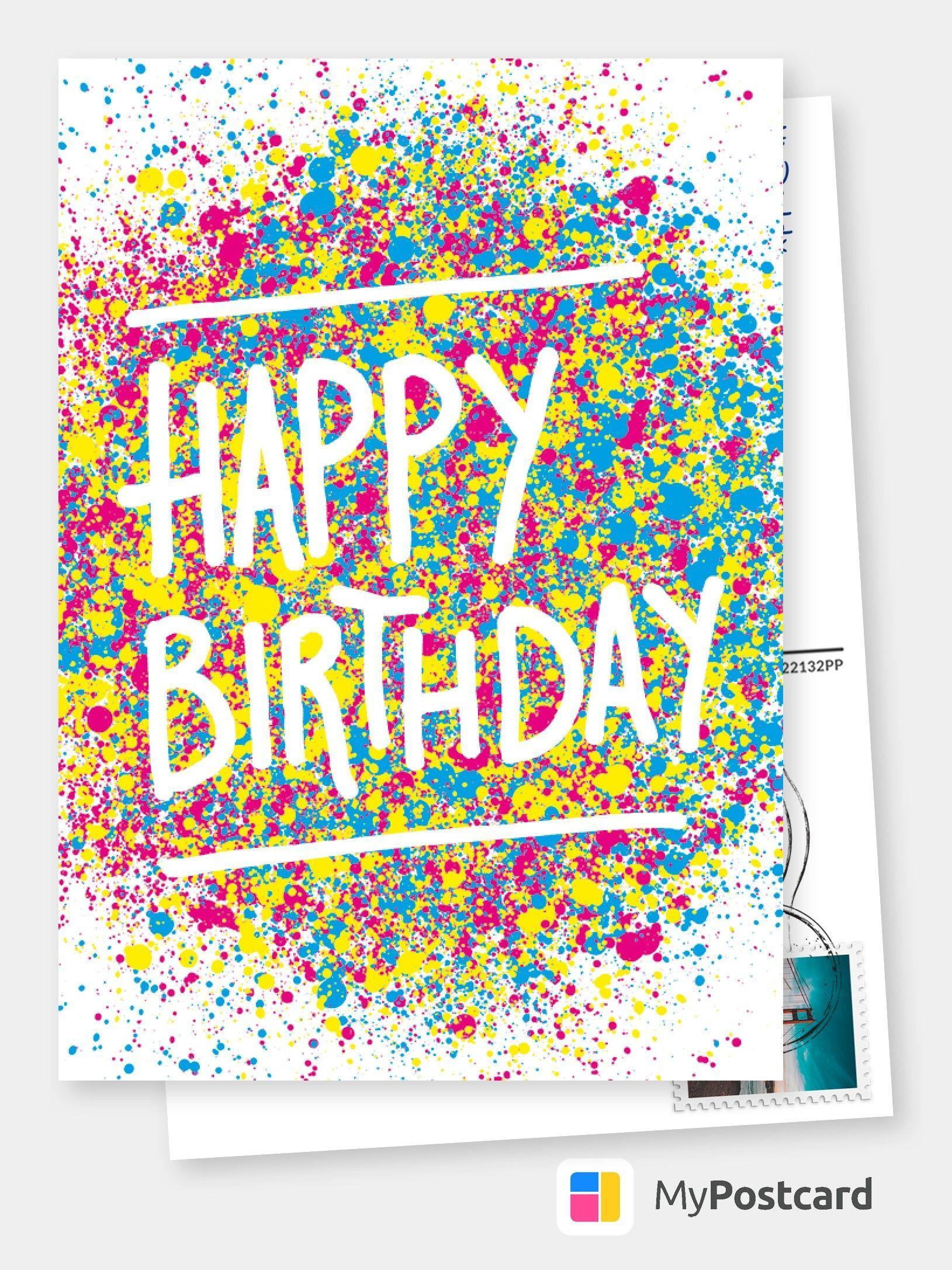 Birthday Postcard Design - Birthday Postcard / Birthday Greetings