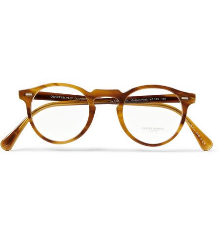 3641f0c9fd7c Oliver Peoples Gregory Peck Tortoiseshell Round-Frame Optical Glasses