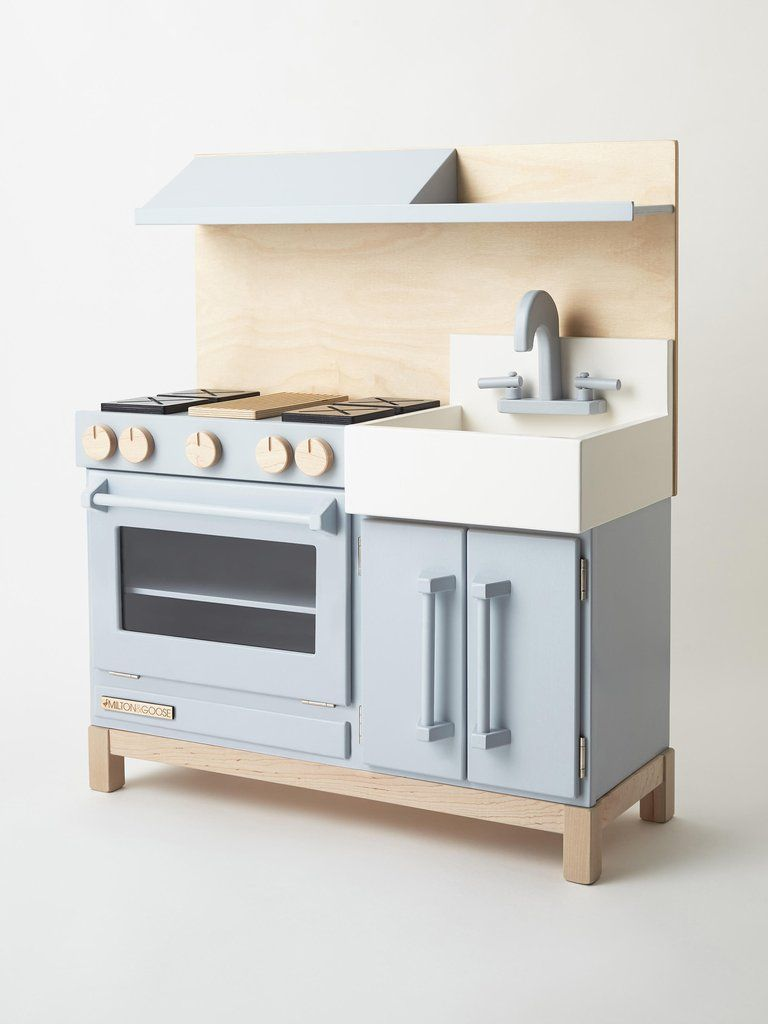 Nontoxic Wooden Play Kitchens Made In Usa Neutral Colors And