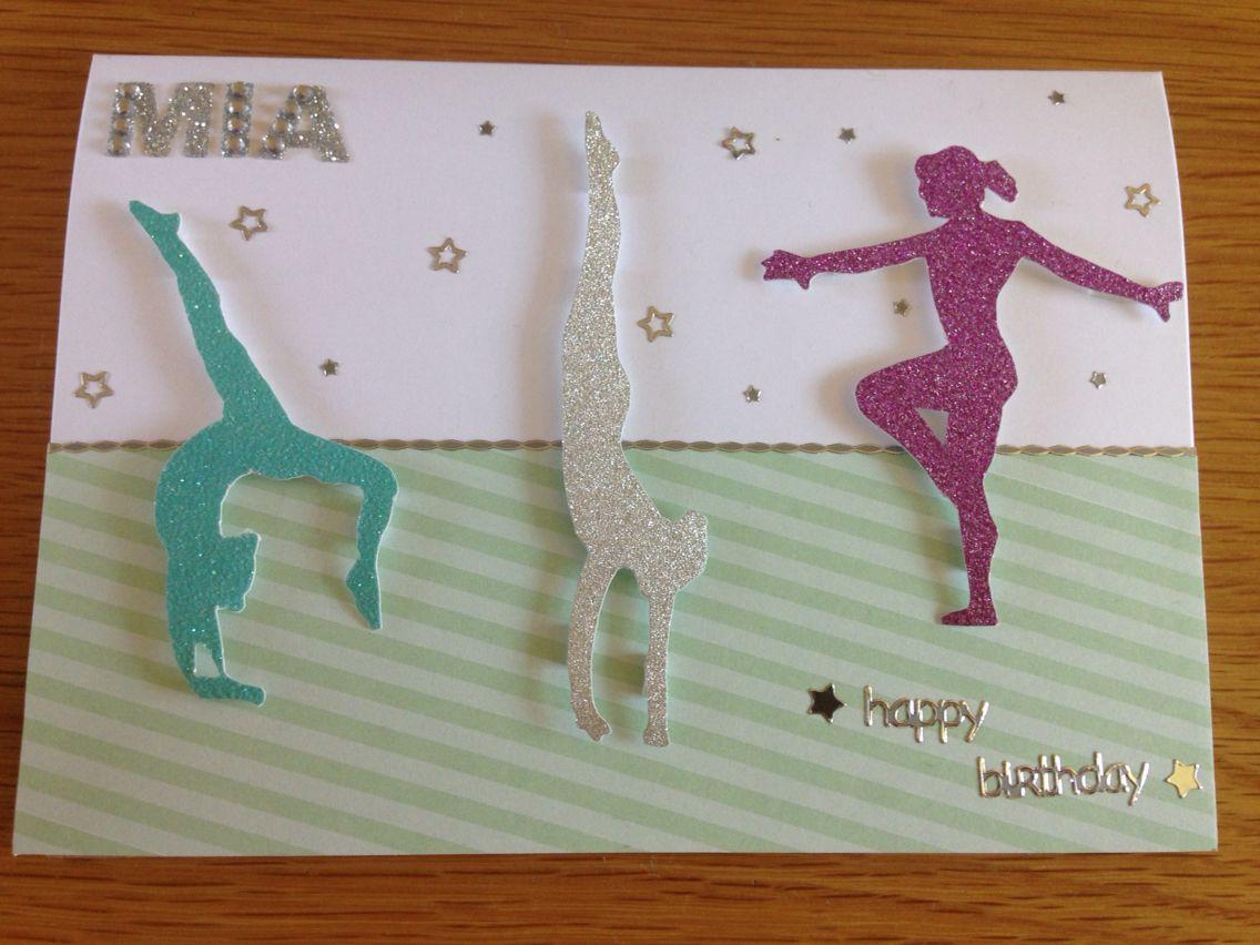 Gymnastics Birthday Card   Girl birthday cards, Birthday cards diy ...