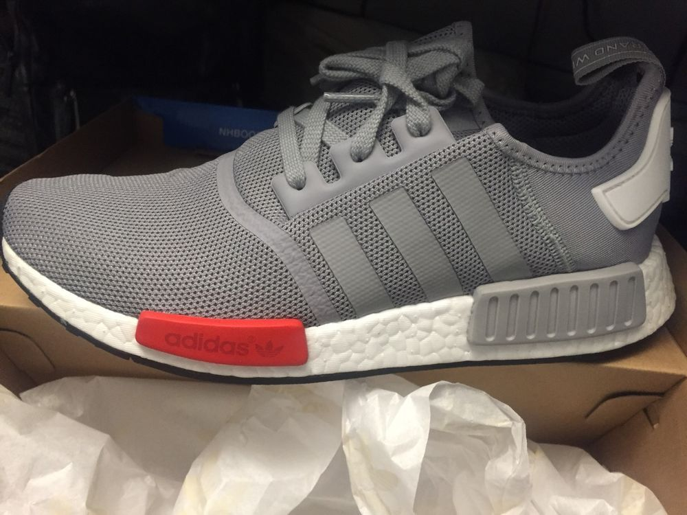 big sale 4139a 4ba51 Adidas NMD Runner Grey Gray Red Light Onix S79160 Mens ...