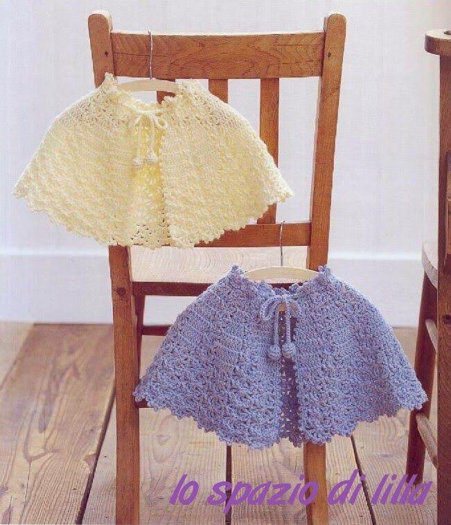 Lo Spazio Di Lilla Mantellina Alluncinetto Per Bimba Crochet