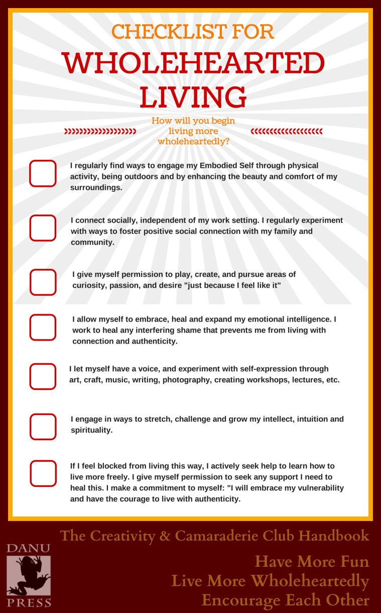 Checklist Are You Living Wholeheartedly The Gift Of Imperfection Self Compassion Brene Brown Quotes