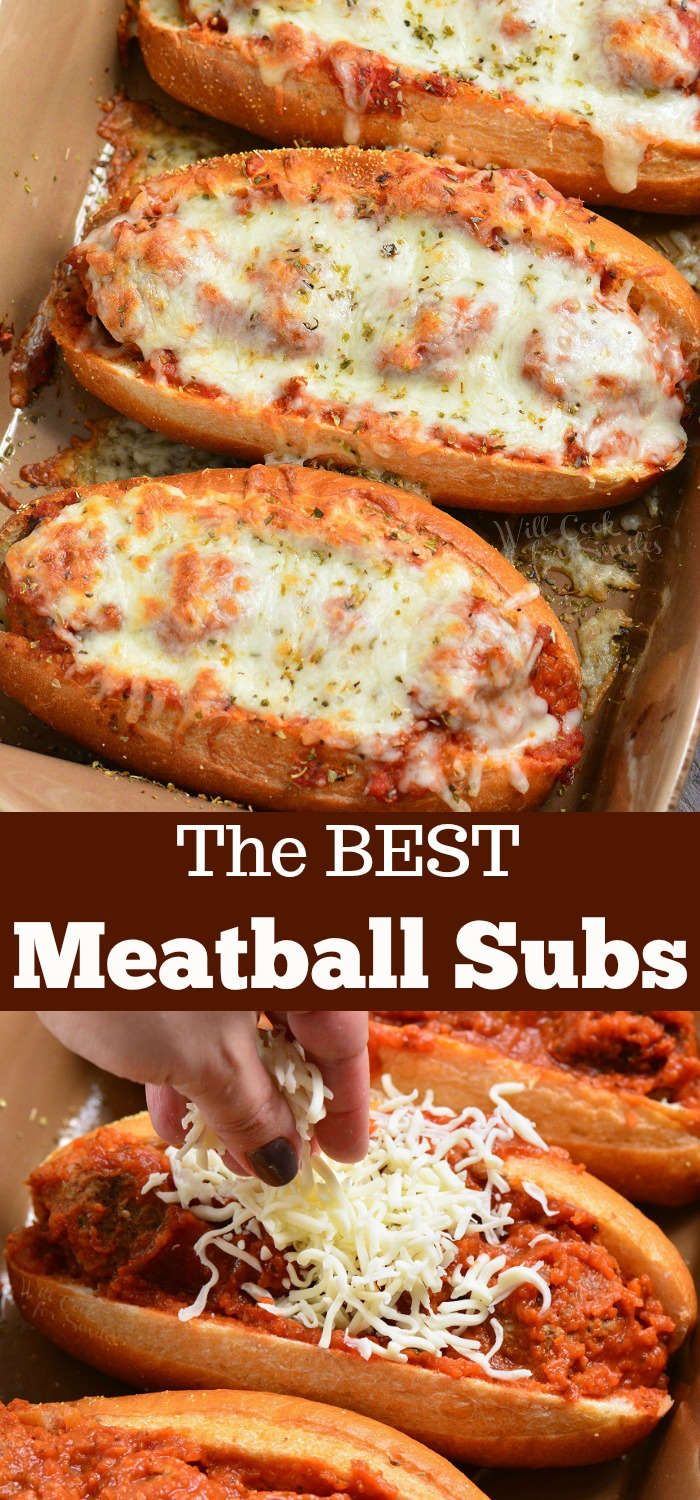 The BEST Meatballs Subs