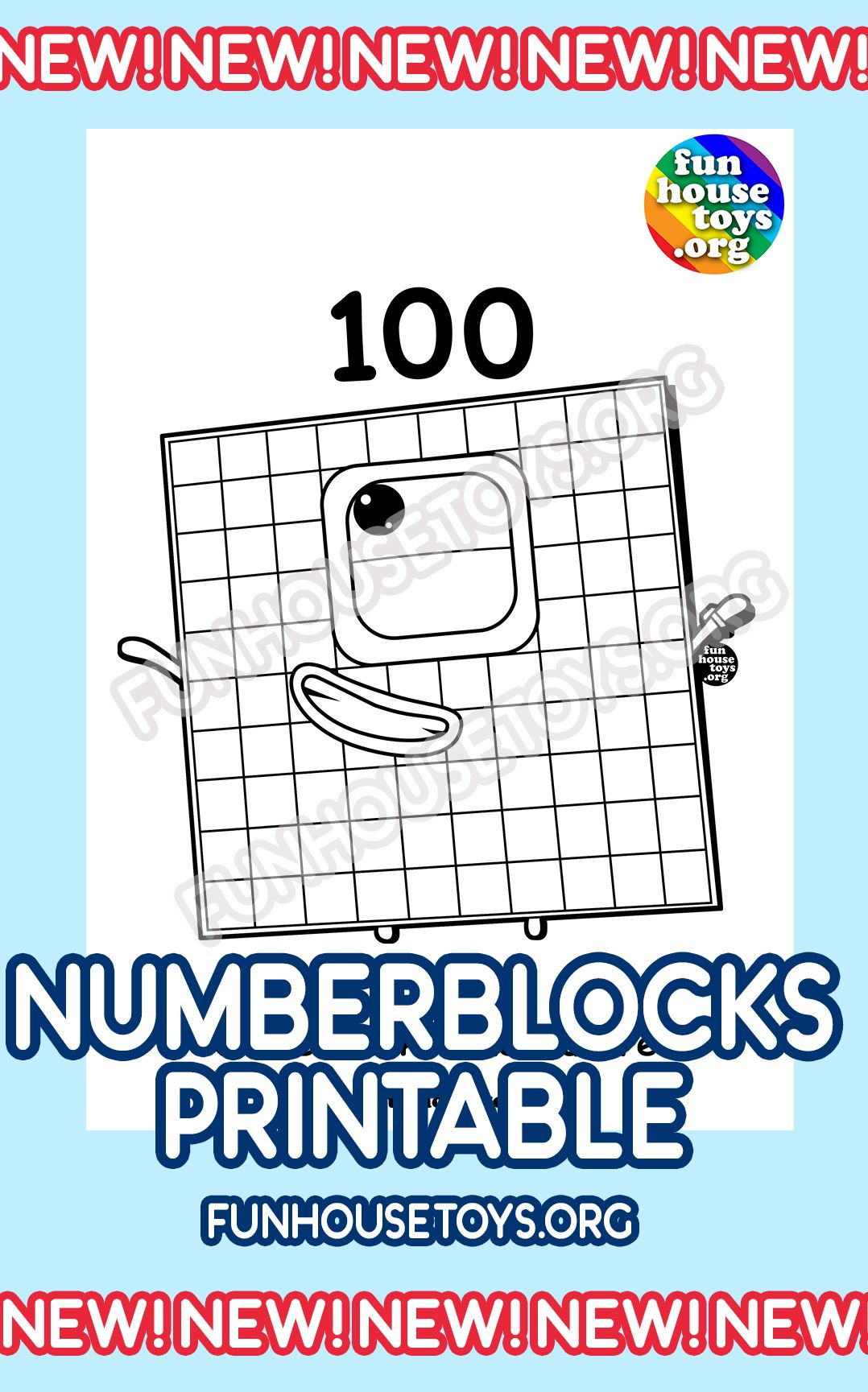 New 100 To 1000 Numberblocks Coloring Pages In 2020 Fun Printables For Kids Printable Coloring Pages Coloring Pages
