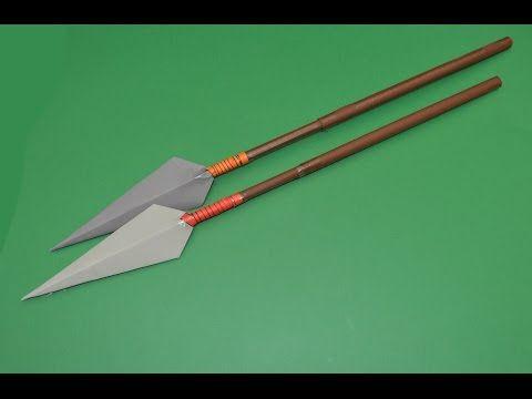 Como Hacer Una Lanza De Papel Paper Spear Youtube Armas