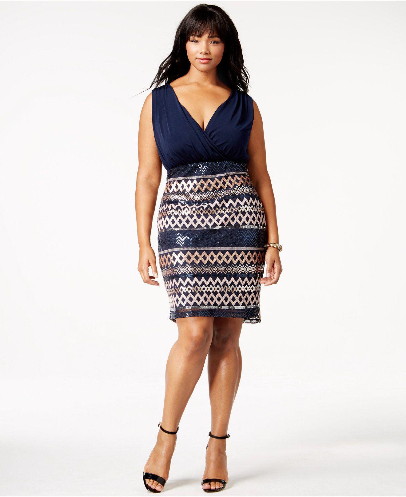 Love plus size cowlneck sequined party dress look idées