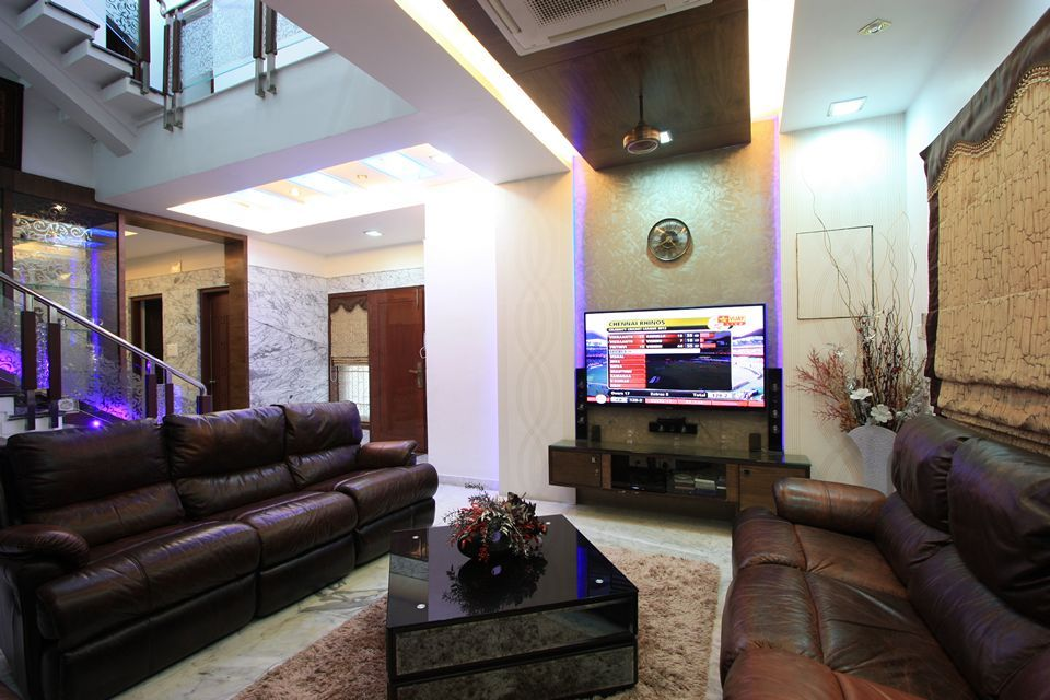 Luxury combined with contemporary style defines this for Exterior home design in chennai