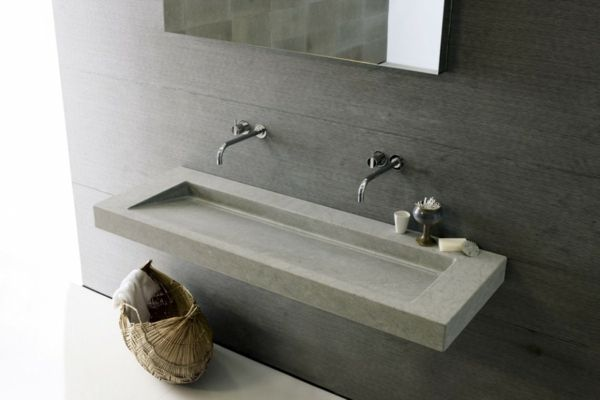 Minimalistisch Waschbecken Stein Neutra Beton Waschbecken
