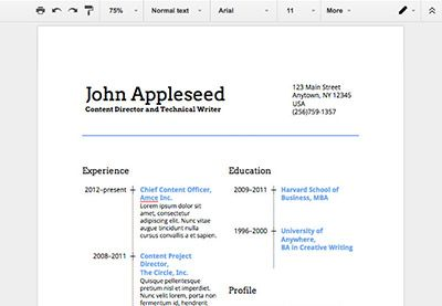 How To Make A Professional Resume In Google Docs Https