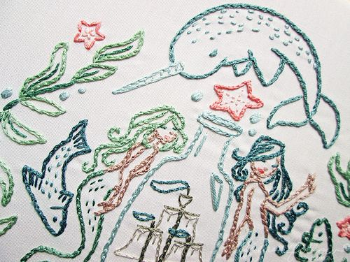 Narwhal Embroidery, go! :D