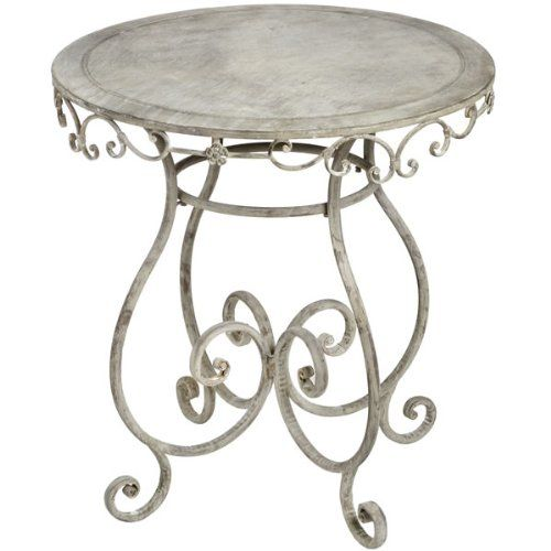 SHABBY CHIC FRENCH STYLE ANTIQUE IRON PROVENCE GARDEN BISTRO ROUND TABLE ** FULL RANGE OF MATCHING FURNITURE IS AVAILABLE FOR BEDROOM, LIVING ROOM, KITCHEN, DINING ROOM, BATHROOM & HALL - OVER 60 ITEMS ** Style-A-Room http://www.amazon.co.uk/dp/B007X3FGNI/ref=cm_sw_r_pi_dp_.QUBwb1F0P1WD