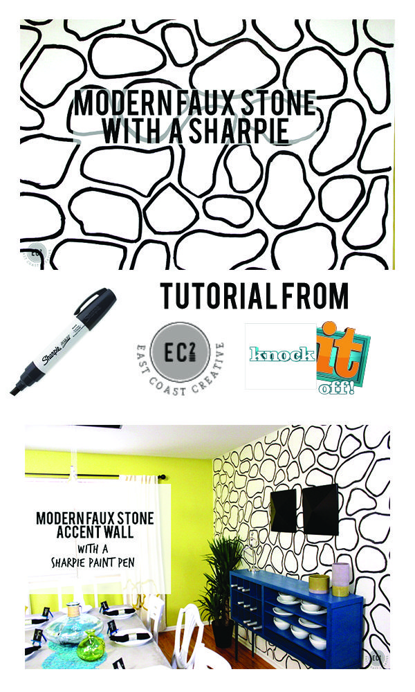 Modern Faux Stone Sharpie Accent Wall East Coast