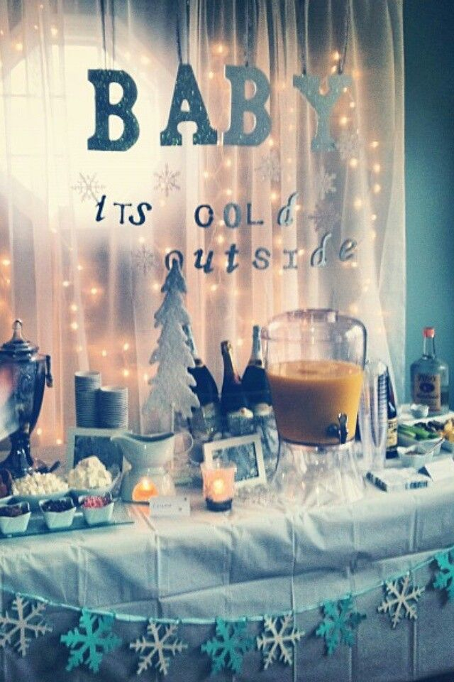 Christmas & Winter Baby Shower Ideas & Decorations on ... |Winter Theme Baby Shower
