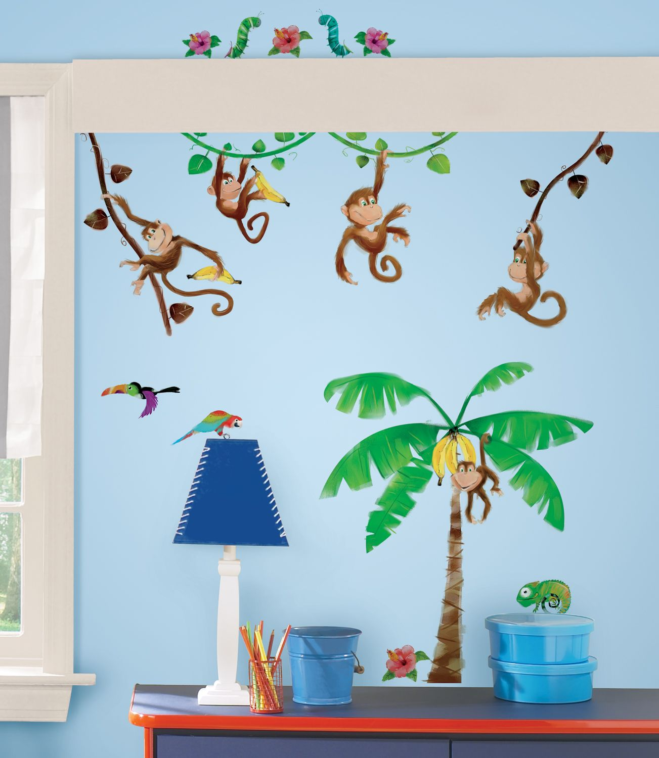 "Ambiance pl¨tement ""jungle"" garantie stickers chambre déco"