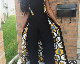 Afrikanische Frauen Dashiki Overall / afrikanischen Druck Strampler / Ankara Overall / afrikanische Kleidung für Frauen / afrikanische Kleider / Ankara Strampler