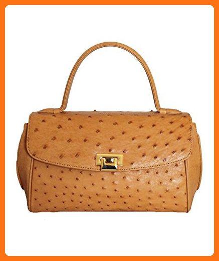 Fiori Eo0081 Genuine Ostrich Leather Handbag Top Handle Bags Partner