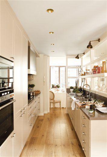ideas cocinas cocinas modernas cocinas pequeas ciudad interiores comedores casas medio cocina alargada