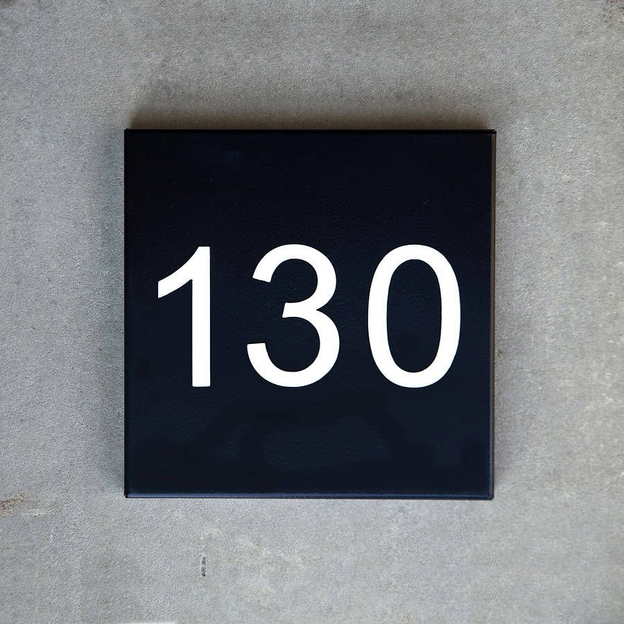Image gallery house number plates for Modern house number plaques