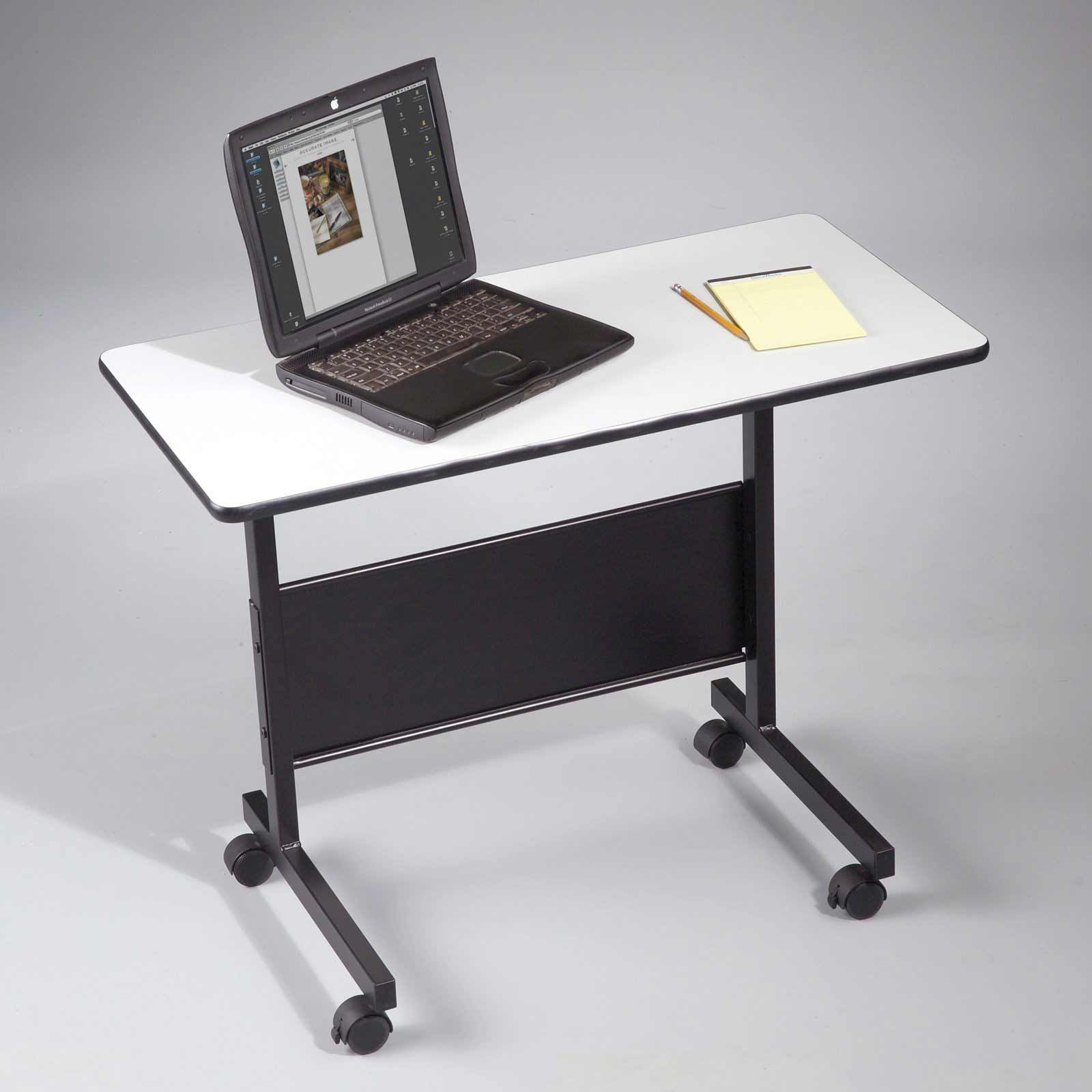 Delightful Computer Table On Wheels