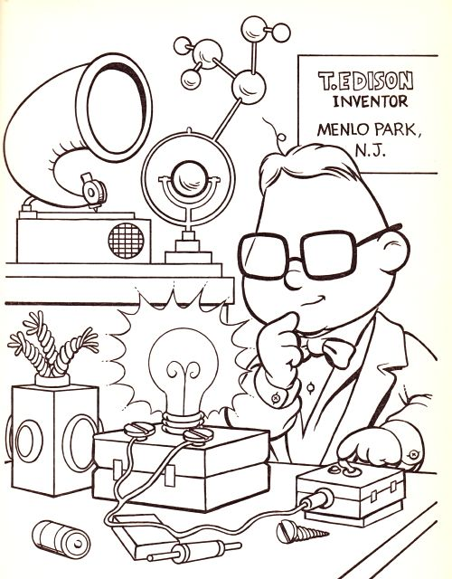 Thomas Edison (muppet) coloring page | Coloring - Muppets | Coloring ...