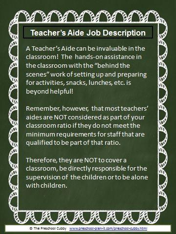 Preschool Job Description Resource Packet with editable templates - assistant director job description