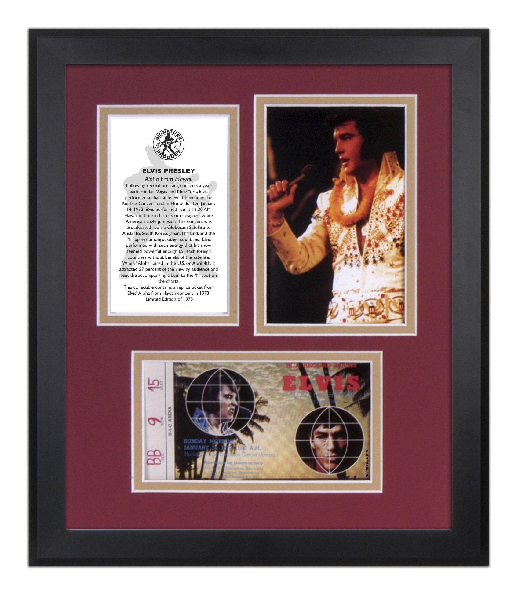 Elvis presley then amp now 25th anniversary collector s edition ebay - Elvis Presley Aloha From Hawaii 35th Anniversary Framed Memorabilia